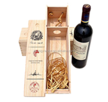 silk screen laser logo stain painted customized wood wine box for red wine