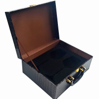 Custom Wooden Wine Cup Gift Packaging Box With Foam Insert,Leather Glass Cup Packaging Box.