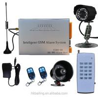 GSM Wireless industry/warehouse/garage security burglar fire/smoke gsm alarm system