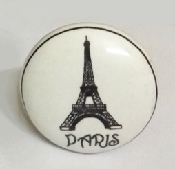 Retro Ceramic Door Knobs with Eiffel Tower and other Pictures