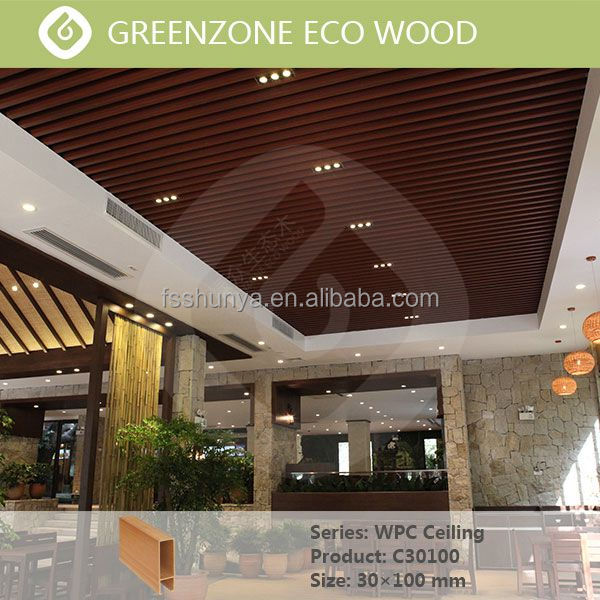 strip ceiling battens modern wood ceiling decorative wpc ceiling