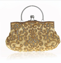 zm53516a latest design evening bag modern brass evening bag