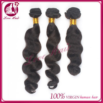 Quality natural color brazilian hair weave, 22inch 100% unprocessed virgin hair extension, alibaba express