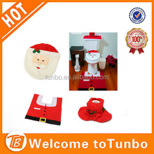 Christmas Gift Bathroom Decoration 4-pc Santa Toilet Cover Set