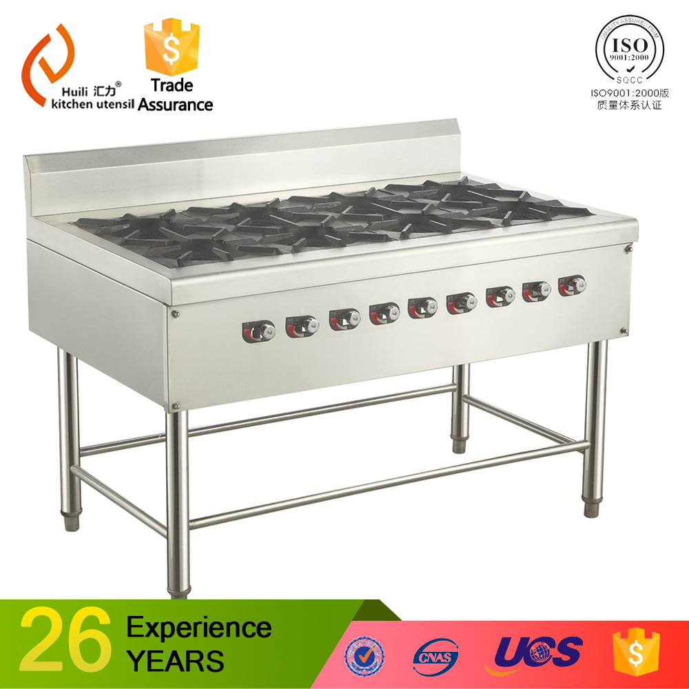 hot sell double head and double stock pot burner with double head OED distributor induction cooker with gas stove eight head