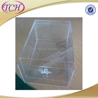 Wholesale china clear hard plastic shoe box flat pack acrylic box