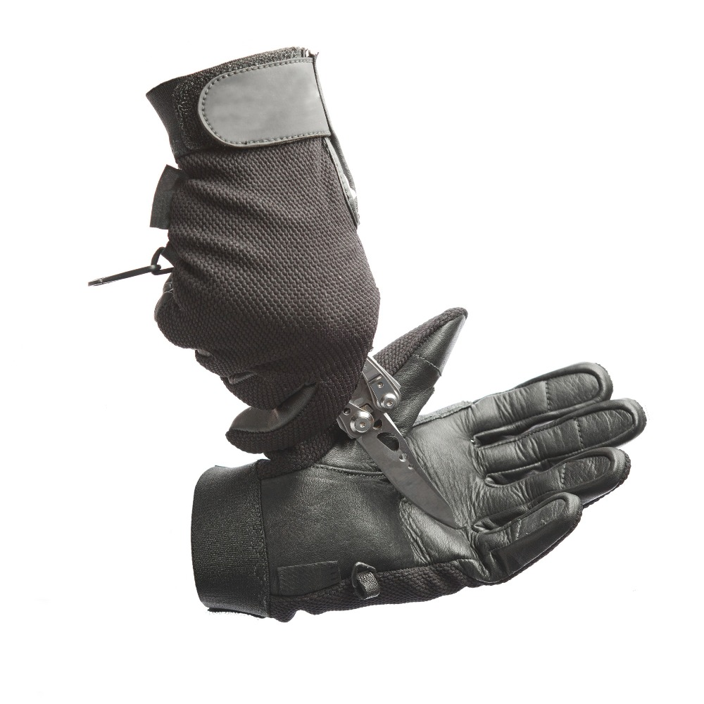 cutproof custom leather winter hunting shooting gloves