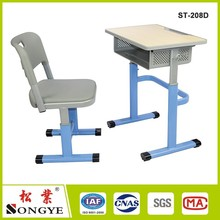 wholesale adjustable height children desk and chair