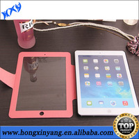 With Strong magnetic wake sleep function PU leather case for ipad Air