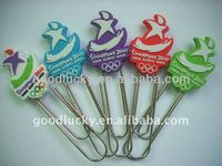 Mini hot sale gift rubber pvc paper clip for promotion