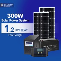 Hot sale rechargeable 300w portable solar generator for home