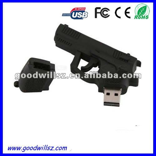 Fashion Mini Pistol USB Pen Drive 2.0