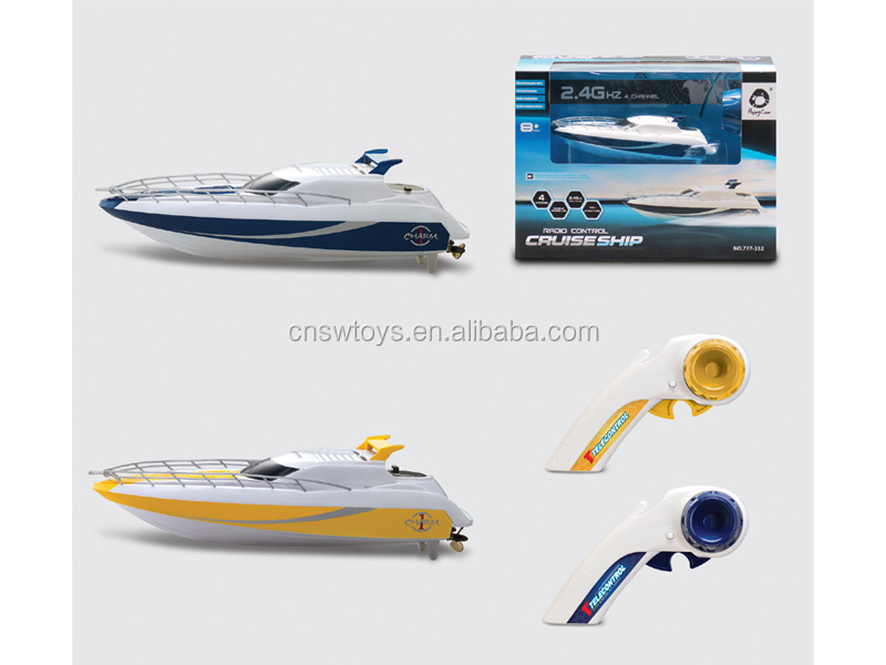 YK0809212 Hot novel crazy happy children plastic toys ship 2.4G remote control boat with wifi with usb line recharable battery