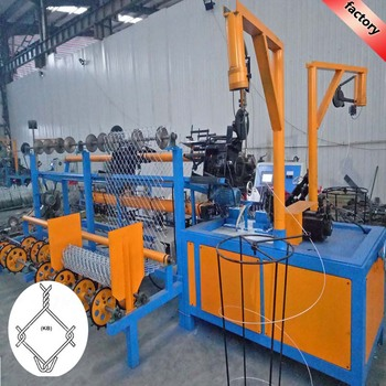high speed used fully-automatic chain link fence machine for sale