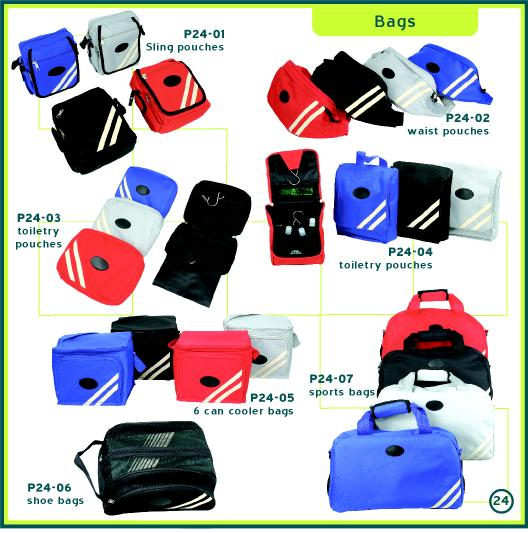 Corporate Gifts Singapore - Customised Shoe Bag, Toiletry Bag, Sling Pouch, Waist Pouch, Can Cooler Bag, Sports Bag
