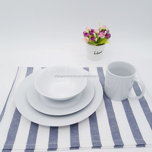 Fancy hotel restaurant crockery white dinner ware wedding charger plate set dinnerware