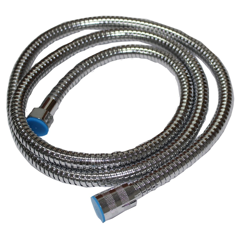 hose pipe 1m/1.5m/ 2m G1/2 Inch Flexible Shower Hose Stainless Steel Chrome Bathroom Water Head Showerhead Pipe