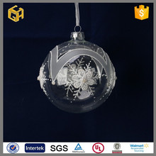 Wholesale large clear decorative christmas glass balls