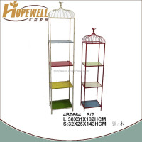 wholesale fashion decoration metal floor shelf plant stand