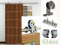 6.6ft Stainless Steel Wood Sliding Barn Door Hardware Pack