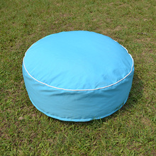 Home long-lasting light blue floor beanbag pouf