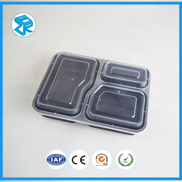 Quality useful packaging supplies disposable plastic divided food tray bento containers