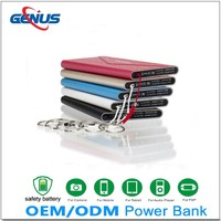 Portable external mobile battery charger rohs lipstick power bank for mobile phone 4000MAH