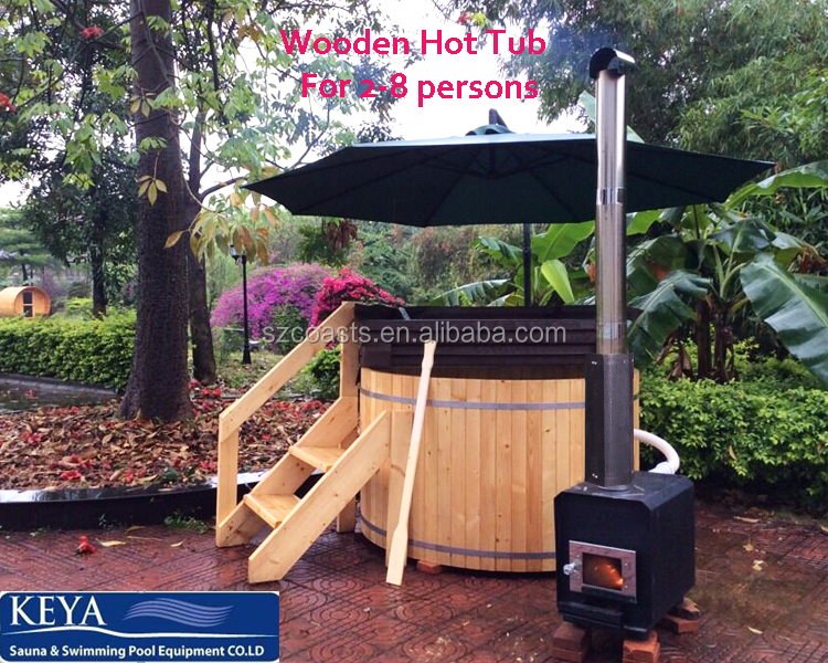 20 Years Manufacturer Wooden hot tub round wood fired hot tub