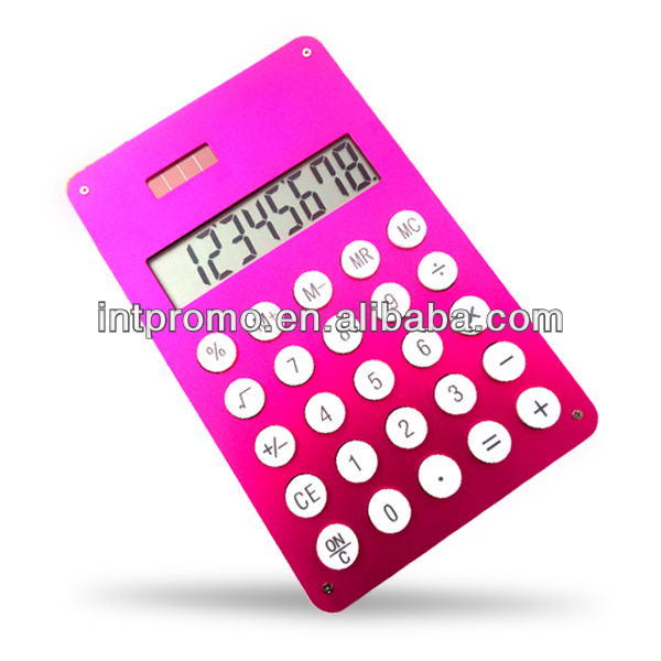 8 digits aluminum solar panel fancy calculator