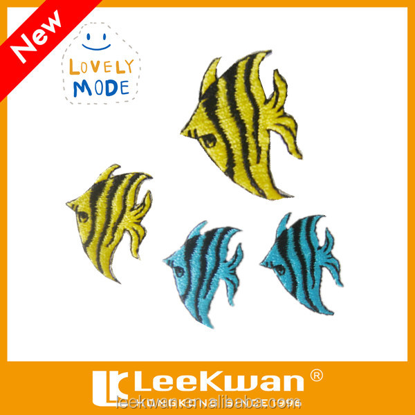 Embroidered Fish Iron On Patch Applique