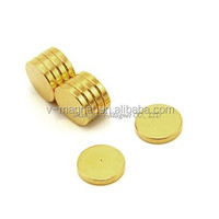 Gold Coated Disc Neodymium Magnet