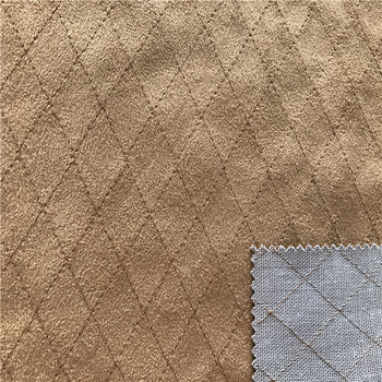 Recycled suede Bonding embroidery fabric
