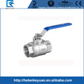 1'' SS316 internal thread,two pieces ball valve,stainless steel industry ball valve