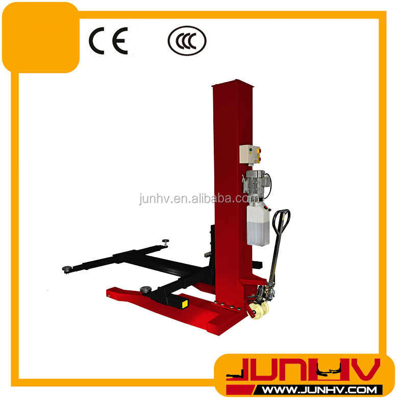 single post hydraulic drive portable garage auto car lift/hydraulic single cylinder car lift