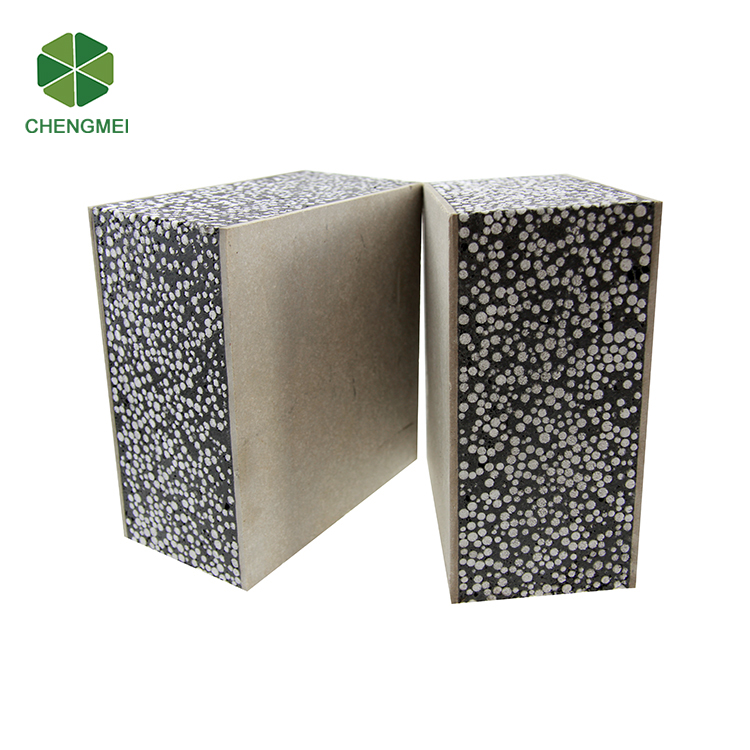Calcium silicate board eps cement sandwich wall panel prefab house in India