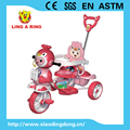 children musical tricycle with pushbar and canopy three wheel tricycle 2018 product