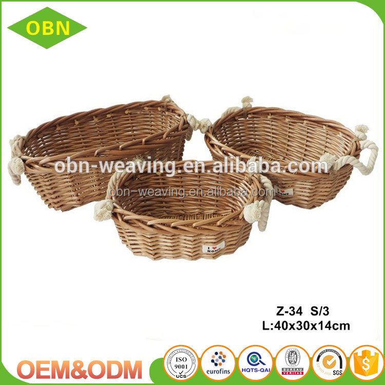 Home sundries storage decorative willow baskets