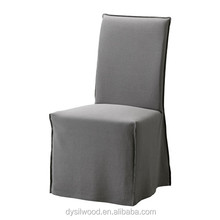 Modern design fully upholstered high back wooden dining room chairs