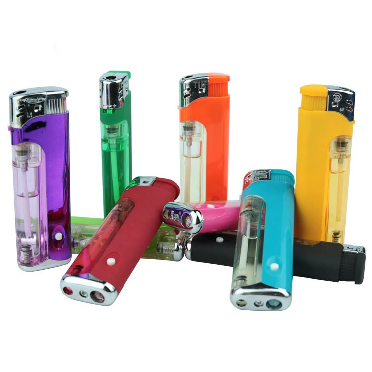 Europe standard iso9994 msds children resistance electric cigarette lighter with led flashlight