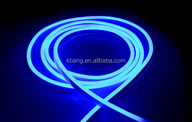 led neon strip light blue color ultra thin flexible high voltage