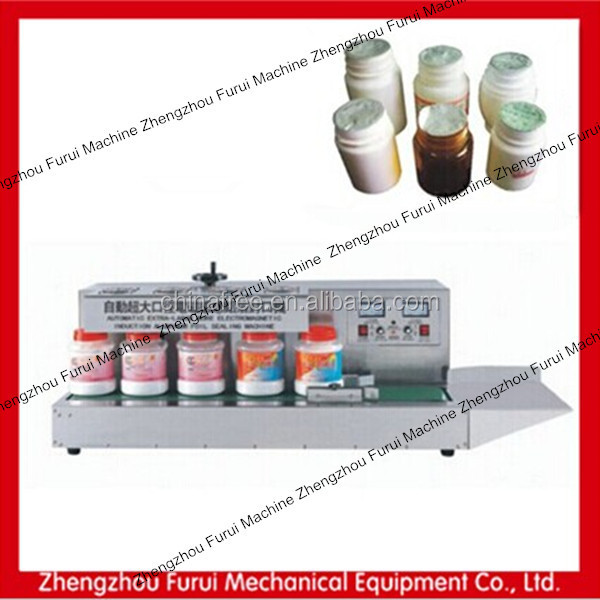 Induction aluminum foil plastic bottle cap sealing machine for larger caliber bottle