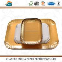 Customized design different shape decoration paper plate food grade paper tray