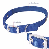 Strong Zinc Alloy Dog Collar Hardware with Nickel Plate