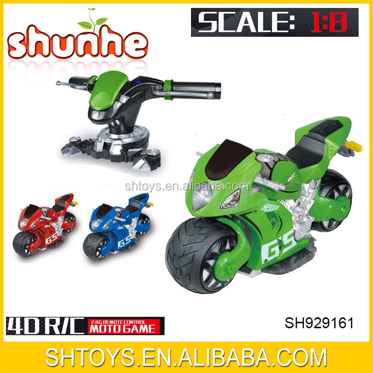 2016 Newest 4D full function 1:8 rc car 2.4G remote control toy motorcycle for sale