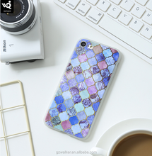 High quality marble pattern design TPU shockproof cell phone cover for iphone 7 6 case tpu