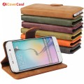 Hot Selling S6 Edge Plus Retro Matte Leather Wallet Stand Flip Phone Case Cover for Samsung Galaxy S3 S5 S6 Edge Plus S7 S7 Edge