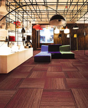 printed design with multi-level loop pile carpet tile