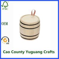 custom wooden coffee bean barrel