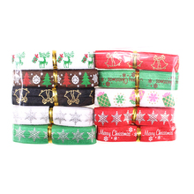 20yards Christmas printed fold over elastic for diy hair tie headband