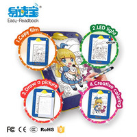 Drawing Smart board,Can drawing ,drawing stand & drawing board led;Color pen set